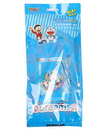 Sticker Bazaar Doraemon Stationery Set Pack Of 7 - Blue