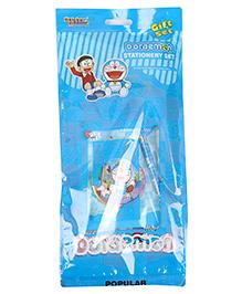 Sticker Bazaar Doraemon Stationery Set Pack Of 7 - Blue