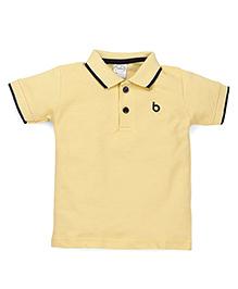 Babyhug Half Sleeves Solid Color T-Shirt - Yellow