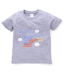 Babyhug Half Sleeves T-Shirt Printed - Grey