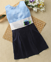 Shu Sam & Smith Sky Angel Dress With Belt - Blue