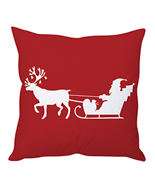 StyBuzz Christmas Cushion Cover - Dark Red & White - 1241226
