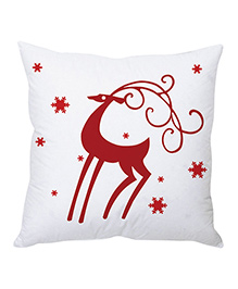 StyBuzz Christmas Cushion Cover - Red & White - 1241228