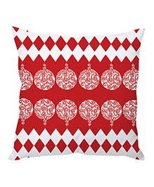StyBuzz Christmas Cushion Cover - Red & White - 1241229