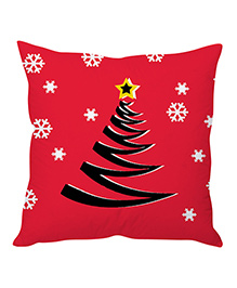 StyBuzz Christmas Cushion Cover - Red