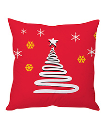 StyBuzz Christmas Cushion Cover - Red & White