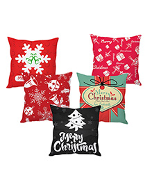 Stybuzz Christmas Cushion Cover Set Of 5 - Multicolor