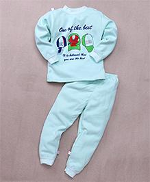 Superfie Printed Night Wear Set - Sky Blue