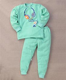 Superfie Music Lover Nightwear Set - Green