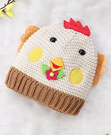 Superfie Cute Chick Cap For Kids - Cream