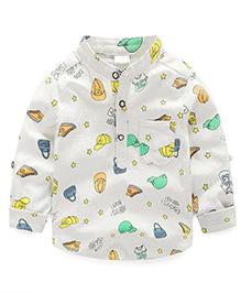 Cherubbaby Fun Print Full Sleeves Shirt - White