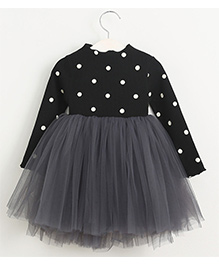 Cherubbaby Polka Dot Print Tutu Dress - Black