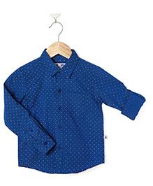 Coo Coo Oxford Polka Shirt - Navy Blue