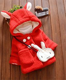 Tickles 4 U Hoddie Furry Winter Jacket - Red