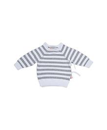 FS Mini Klub Full Sleeves Stripes Sweater - Grey