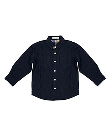 FS Mini Klub Full Sleeves Solid Color Shirt With Pockets - Navy