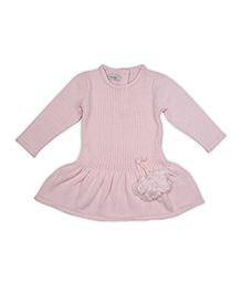 FS Mini Klub Full Sleeves Sweater Dress - Pink