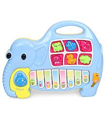 Elephant Shape Musical Piano - Blue