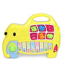 Elephant Shape Musical Piano - Yellow