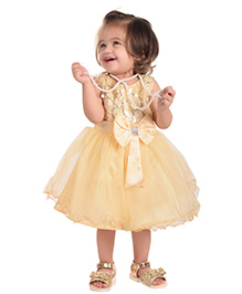 The Kidshop Circles Sequins Dress - Golden