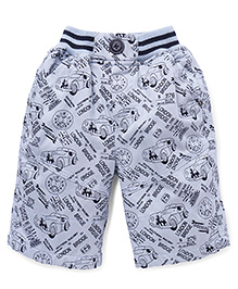 Jash Kids All Over Print Jamaican Shorts - Sky Blue