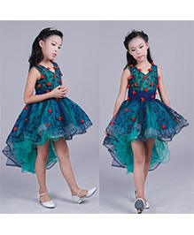 Pre Order - Lil Mantra Party Dress - Blue & Green