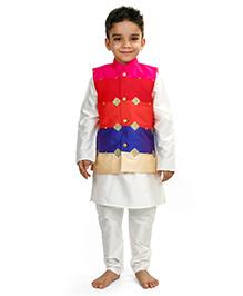 Raghav Embroidered Nehru Koti - Multicolor