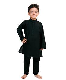Raghav Kurta Pyjama Set - Black
