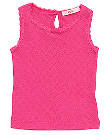 Fox Baby Sleeveless Top - Fuchsia