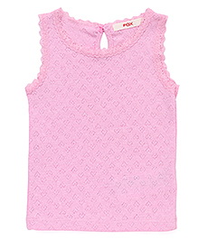 Fox Baby Sleeveless Top - Pink