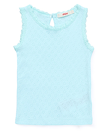 Fox Baby Sleeveless Top - Aqua