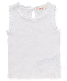 Fox Baby Sleeveless Top - Off White