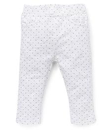 Fox Baby Full Length Leggings - White
