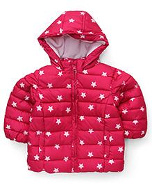 Fox Baby Full Sleeves Hooded Jacket - Fuchsia