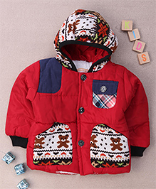 Adores Hooded Winter Jacket - Maroon