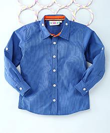 Popsicles Clothing By Neelu Trivedi Contrast Shirt - Blue