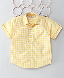 Popsicles Clothing By Neelu Trivedi Checks Shirt - Yellow