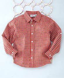 Popsicles Clothing By Neelu Trivedi Checks Shirt - Red