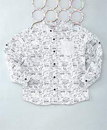 Popsicles Clothing By Neelu Trivedi Doddle Shirt - White & Black
