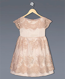 Shilpi Datta Som Laced Flower Dress - Beige