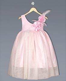Shilpi Datta Som Flower Applique Ballerina Gown - Light Pink