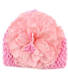 Bellazaara Peony Flower Weave Cap - Pink