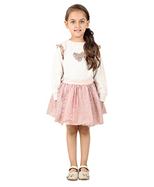 My Lil Berry Tutu Skirt With Rib Waist Band - Pink