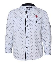 Tales & Stories Full Sleeves Printed Shirt - White