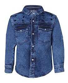 Tales & Stories Full Sleeves Denim Shirt - Blue