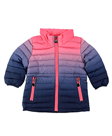 One Friday Tie Dye Padded Jacket - Coral & Navy