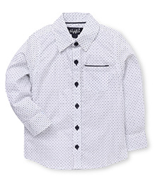Highflier Polka Dot Printed Shirt - White