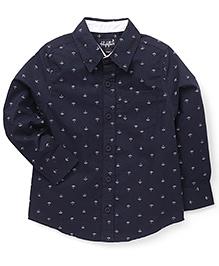 Highflier Anchor Print Shirt - Navy Blue