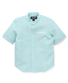 Highflier Shirt with Rollup Sleeves - Green