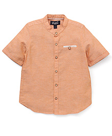 Highflier Shirt with Rollup Sleeves - Orange
